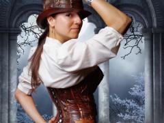 steampunk corset gothic organic armor