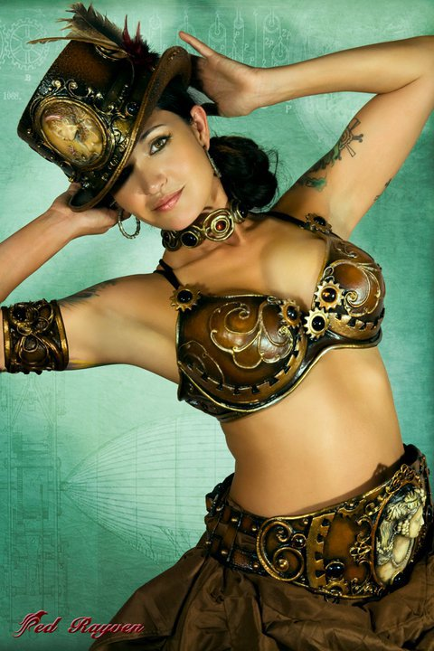 Steampunk Bra and belt
