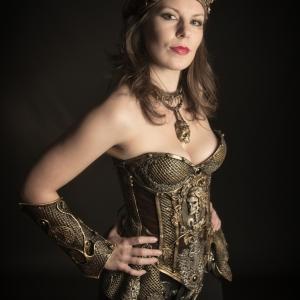 Skull cameo corset
