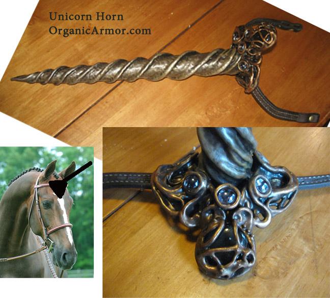 Unicorn horn for a horse