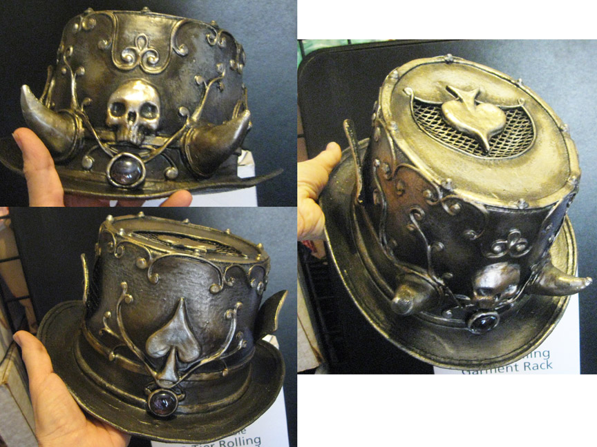 Horned top hat with skull