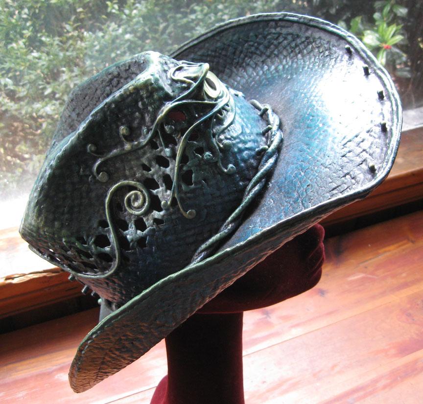 Bluegreen cowboy hat with eye