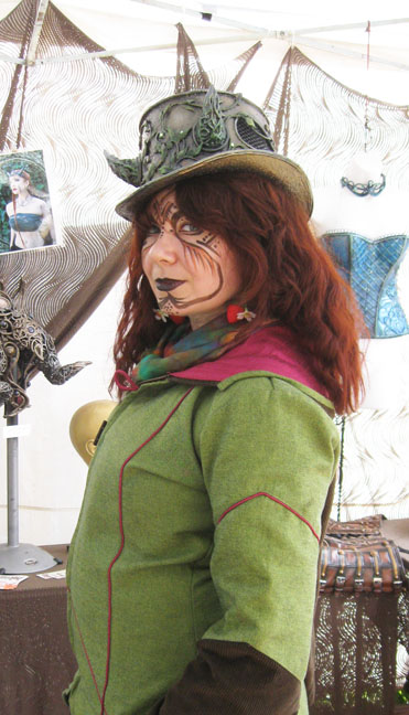 Fae leafy top hat