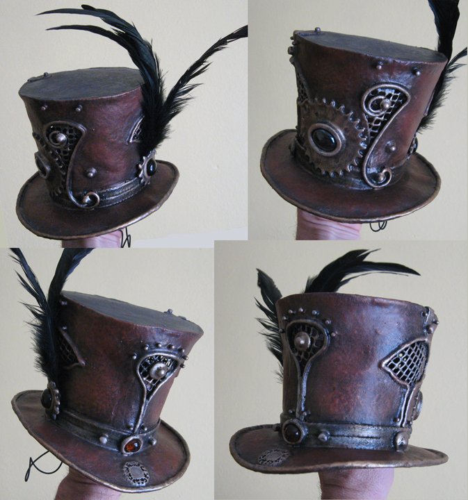 Mini top hats brown