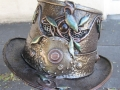 Leafy steampunk top hat