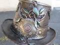 Leafy steampunk top hat