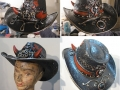 Horned poker cowboy hat
