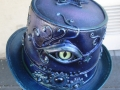violet top hat with eye