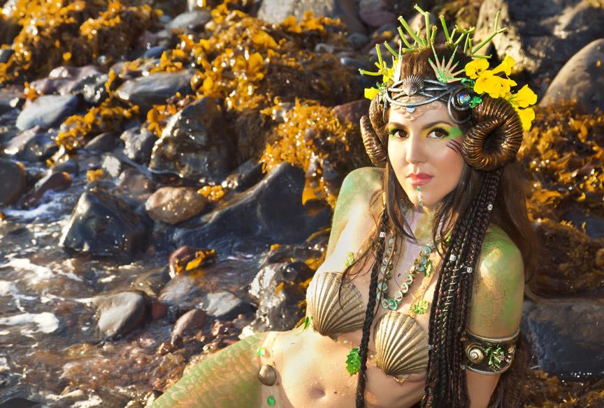 mermaid rams horns