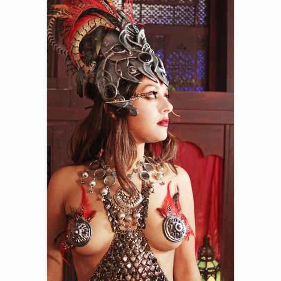 Radhika in Shakti headdress