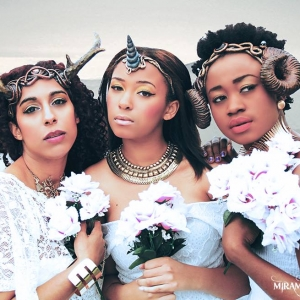 trio of horned goddesses
