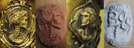 steampunk hat cameos sculpt