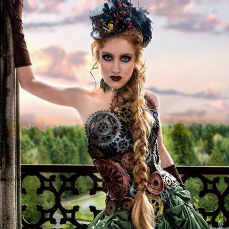 Hannah's steampunk corset