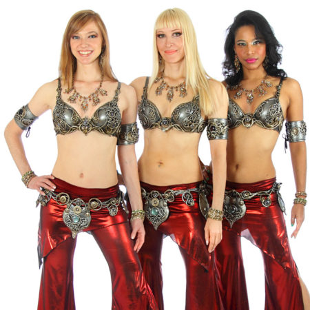 neon belly dance costumes