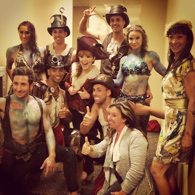 backstage with Lindsey Stirling