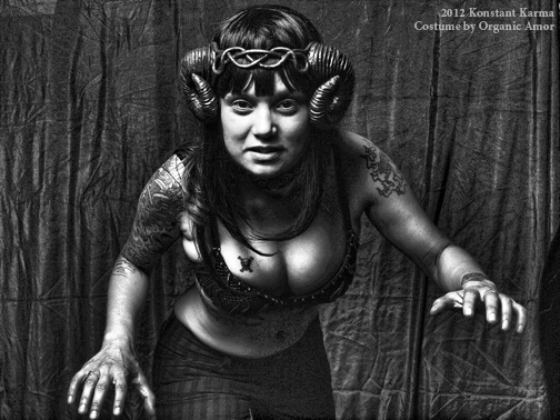 Bella in rams horns