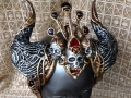 Large Hathor headdress with skulls